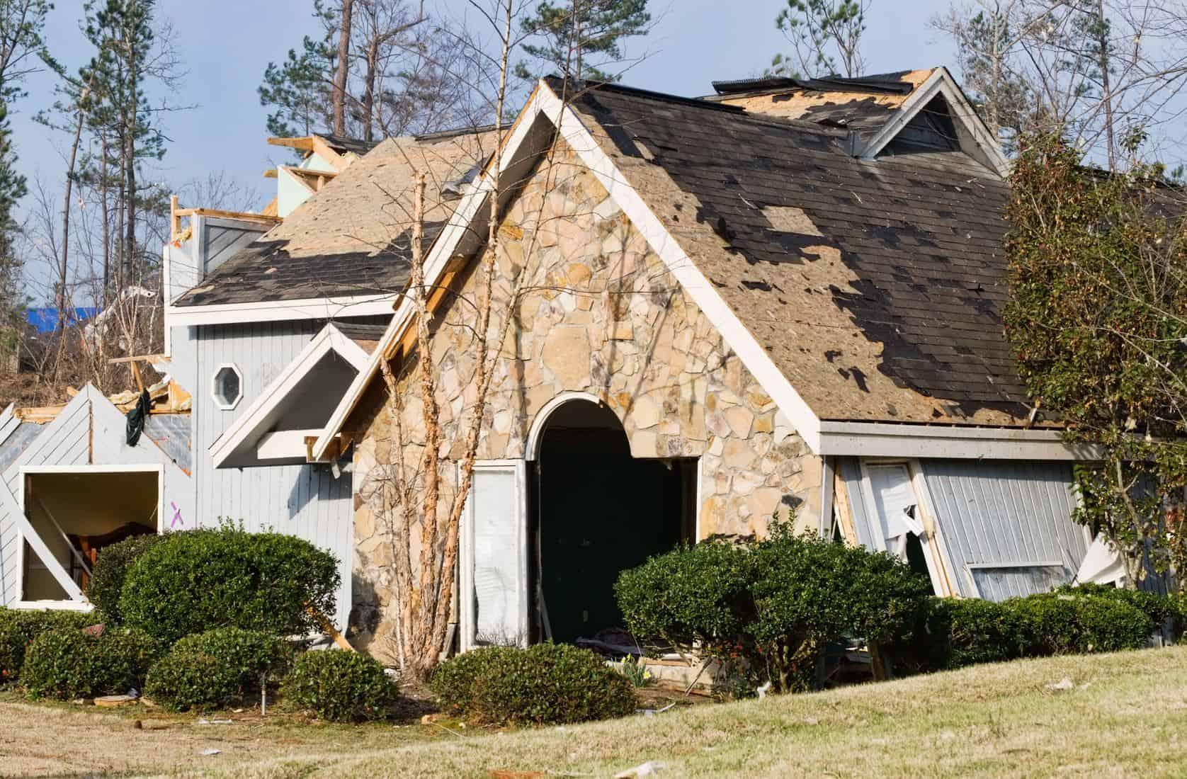 Wind Damage House